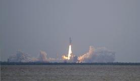 Dernier lancement de navette spatiale - l'Atlantide sur la rue de mission image libre de droits