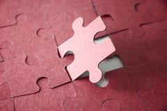 Dernier morceau de puzzle denteux Photo libre de droits
