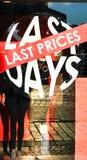 Dernier prix, derniers jours Photo stock