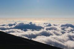 Derniers moments de lumière du jour sur Haleakala Images stock