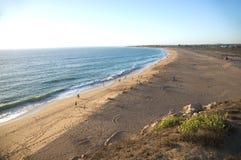 Derniers rayons de soleil à la plage de zahora Photos stock
