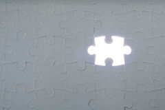 Dernière partie du puzzle Photos stock