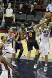 Deron Williams y Kris Humphries Imagenes de archivo