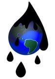 Derramamento de petróleo ilustração royalty free