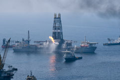 Derramamento de petróleo do horizonte da água profunda de BP Fotografia de Stock Royalty Free