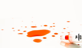 Derramamento do sangue Foto de Stock