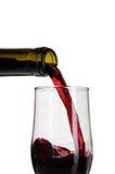 Derramamento do vinho tinto Fotografia de Stock Royalty Free