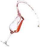 Derramamento do vinho tinto Imagens de Stock