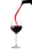 Derramamento do vinho tinto foto de stock