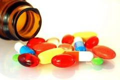 Derramamento dos comprimidos Imagem de Stock Royalty Free