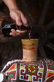 Derramamento tradicional do vinho Imagens de Stock Royalty Free