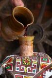 Derramamento tradicional do vinho Imagem de Stock Royalty Free