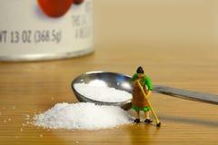 Derramamiento de la sal Imagen de archivo libre de regalías