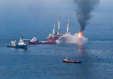 Derramamiento de petróleo profundo del horizonte del punto de ebullición Imagen de archivo libre de regalías