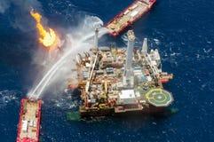 Derramamiento de petróleo profundo del horizonte del punto de ebullición Foto de archivo