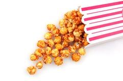 Derramamiento del maíz del caramelo Fotos de archivo
