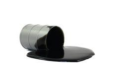 Derramamiento del tambor de petróleo Fotografía de archivo libre de regalías