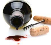 Derramamiento del vino Foto de archivo