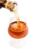 Derrame um vidro do vinho Imagens de Stock Royalty Free
