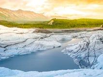 Derretimento da geleira de Matanuska Foto de Stock Royalty Free