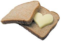 Derretimento do coração da manteiga Imagens de Stock Royalty Free