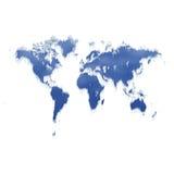 Derretimento do mapa de mundo do gelo Foto de Stock