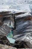 Derretimentos da geleira de Islândia Fotos de Stock Royalty Free