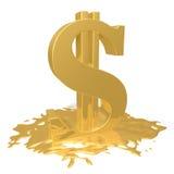 Derretimientos del dólar Foto de archivo libre de regalías