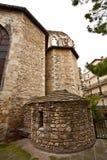 Derrière de cathédrale de Roch de saint, Montpellier image stock