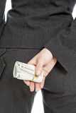 Derrière l'argent image libre de droits