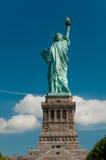 derrière la statue de liberté photo libre de droits