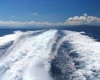 Derrière le bateau Photographie stock libre de droits