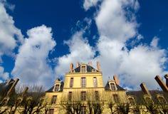Derrière le château Fontainebleau Images libres de droits