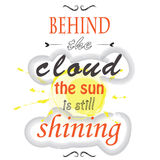 Derrière le nuage le soleil brille toujours Photo libre de droits
