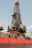 Derrick of Drill Ship. Drill Ship's derrick used to perform offshore drilling operations Royalty Free Stock Image