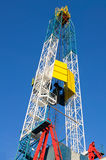 Derrick. Oil well drilling. Royalty Free Stock Photo