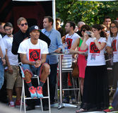Derrick Rose Milan Tour 2013. Derrick Rose during the Adidas tour in Milan Stock Images
