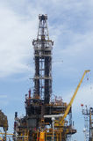Derrick of Tender Drilling Oil Rig. On The Production Platform Royalty Free Stock Images