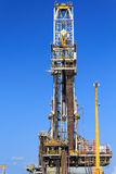 Derrick of Tender Drilling Oil Rig (Barge Oil Rig) Royalty Free Stock Images