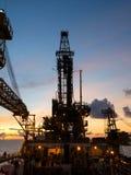 Derrickkran des zarten unterstützten Bohröls Rig Barge Oil Rig lizenzfreie stockfotografie