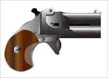 Derringer Pistol. A small concealed weapon as used in the wild west, usually by gamblers and women Stock Photography