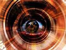 Derrière la lentille Image stock