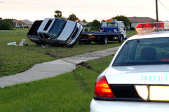 Derrubamento do acidente de transito Fotos de Stock Royalty Free