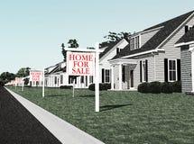 Derrumbamiento de la industria de la hipoteca Imágenes de archivo libres de regalías