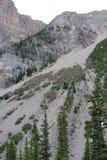 Derrumbamiento de la montaña foto de archivo libre de regalías