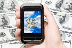 Derrumbamiento del dólar Fotografía de archivo libre de regalías