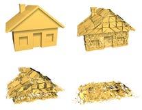 Derrumbamiento del mercado de la casa Imagen de archivo libre de regalías