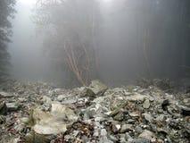 Derrumbamiento y montaña misteriosa la India de Himalaya Imagen de archivo libre de regalías