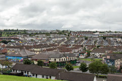 Derry Landscape. This is a landscape of Bogside in Derry. Bloody Sunday memorial wall-paintings road in Londonderry (Derry), Ulster, Northern Ireland Stock Photo