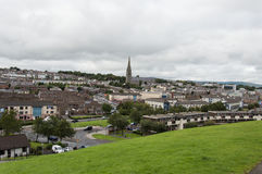 Derry Landscape. This is a landscape of Bogside in Derry. Bloody Sunday memorial wall-paintings road in Londonderry (Derry), Ulster, Northern Ireland Royalty Free Stock Photography